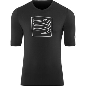 Compressport Training Hardloopshirt korte mouwen, black